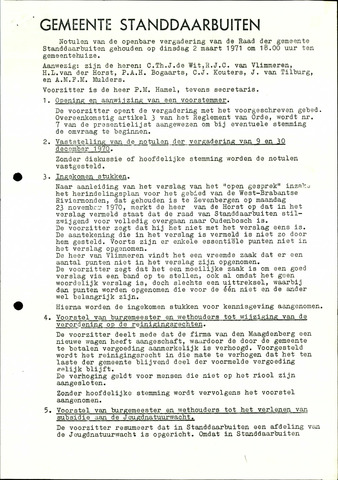Standdaarbuiten: Notulen gemeenteraad, 1937-1996 1971-01-01