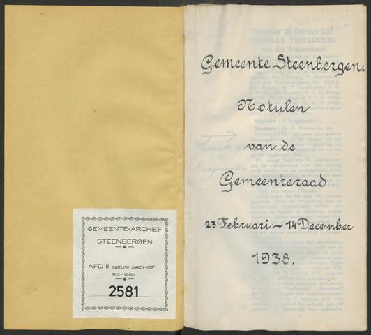 Steenbergen: Notulen gemeenteraad, 1920-1996 1938-01-01