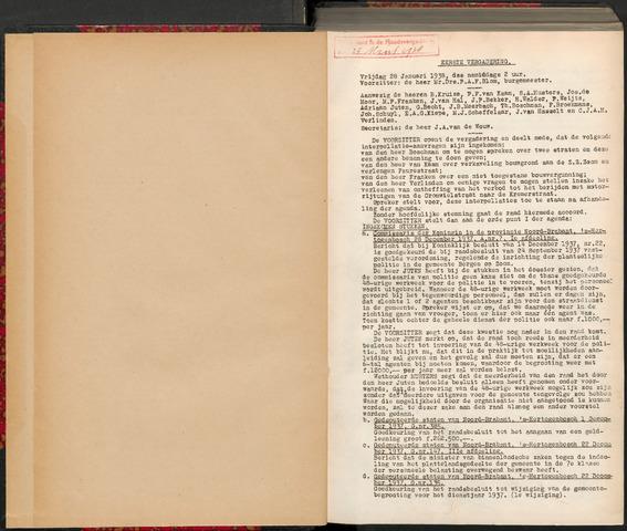 Bergen op Zoom: Notulen gemeenteraad, 1926-1996 1938-01-01