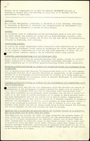 Rijsbergen: Notulen gemeenteraad, 1940-1996 1963