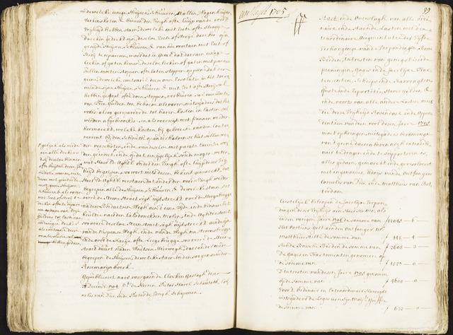 Roosendaal: Registers van resoluties, 1671-1673, 1675, 1677-1795 1705