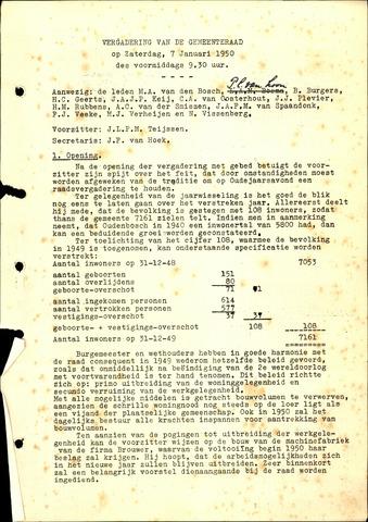 Oudenbosch: Notulen gemeenteraad, 1939-1994 1950-01-01