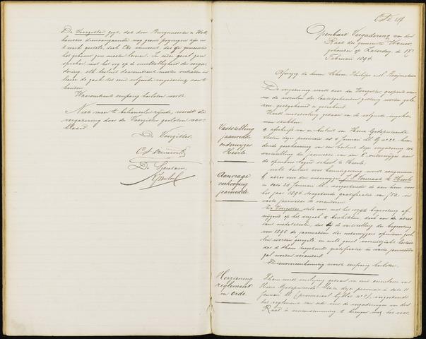Wouw: Notulen gemeenteraad, 1813-1996 1894