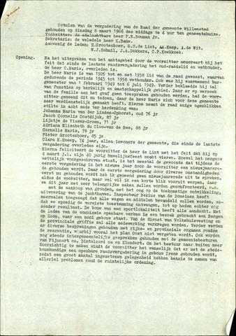 Willemstad: Notulen gemeenteraad, 1927-1995 1966-01-01