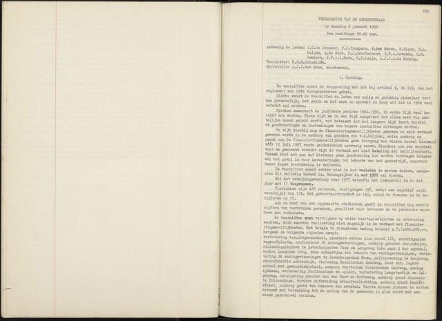 Zevenbergen: Notulen gemeenteraad, 1930-1996 1958-01-01