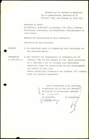 Dinteloord: Notulen gemeenteraad, 1946-1996 1965