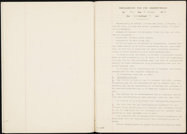 Fijnaart en Heijningen: notulen gemeenteraad, 1934-1995 1939