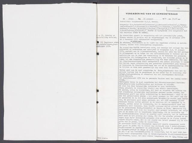 Rucphen: Notulen gemeenteraad, dec. 1949-1998 1979-01-01