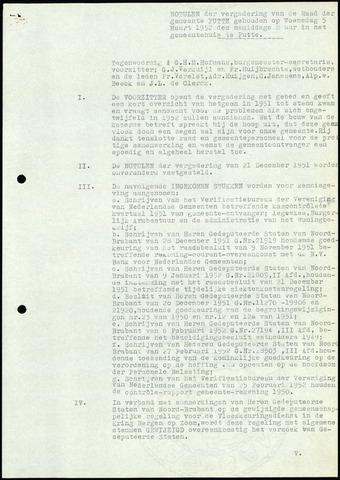 Putte: Notulen gemeenteraad, 1928-1996 1952-01-01