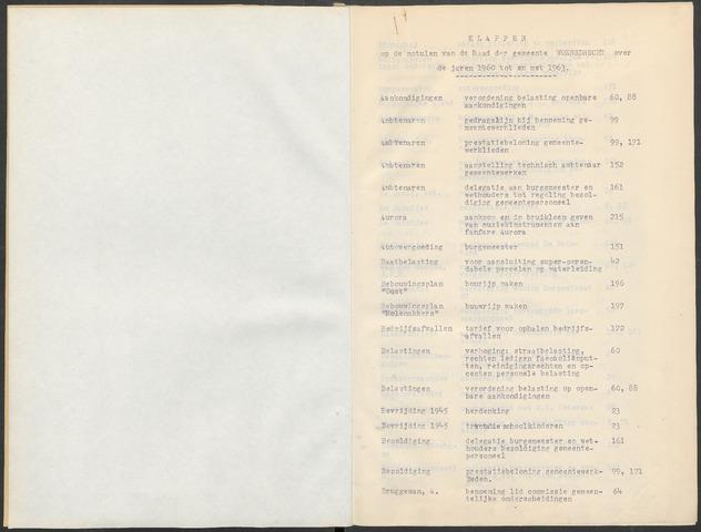 Woensdrecht: Notulen gemeenteraad, 1922-1996 1960-01-01