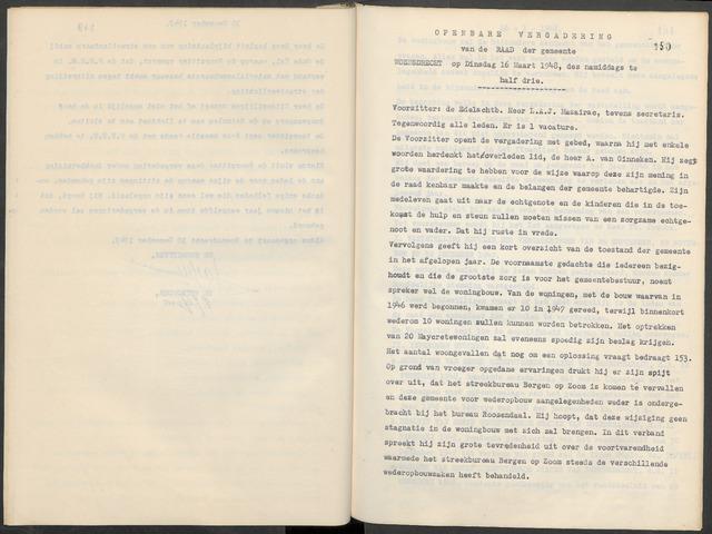 Woensdrecht: Notulen gemeenteraad, 1922-1996 1948-01-01