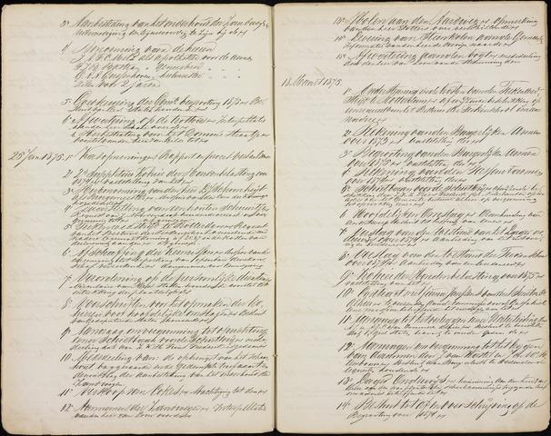 Roosendaal: Inhoudsopgaven notulen, 1849-1903 1875