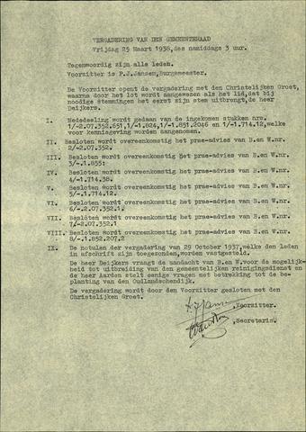 Standdaarbuiten: Notulen gemeenteraad, 1937-1996 1938-01-01