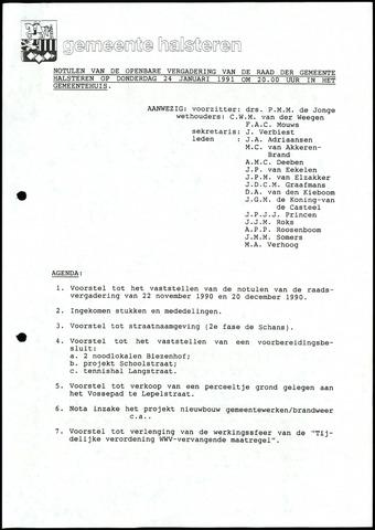 Halsteren: Notulen gemeenteraad, 1960-1996 1991