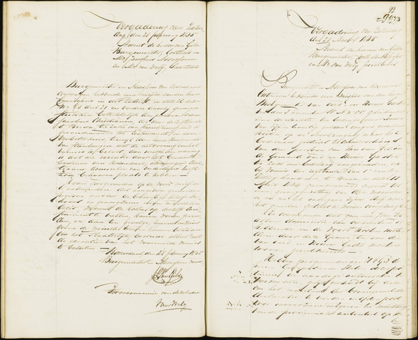 Roosendaal: Notulen van burgemeester en assessoren, 1827-1851 1835