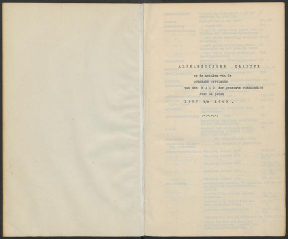 Woensdrecht: Notulen gemeenteraad, 1922-1996 1937-01-01