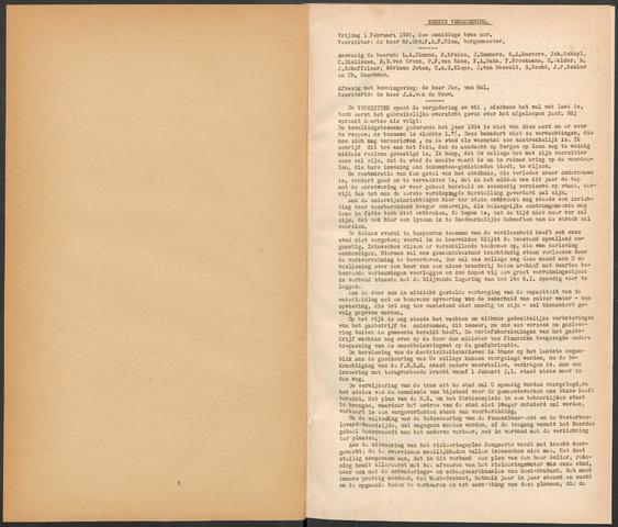 Bergen op Zoom: Notulen gemeenteraad, 1926-1996 1935-01-01
