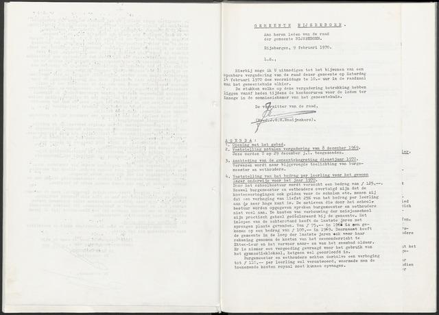 Rijsbergen: Notulen gemeenteraad, 1940-1996 1970