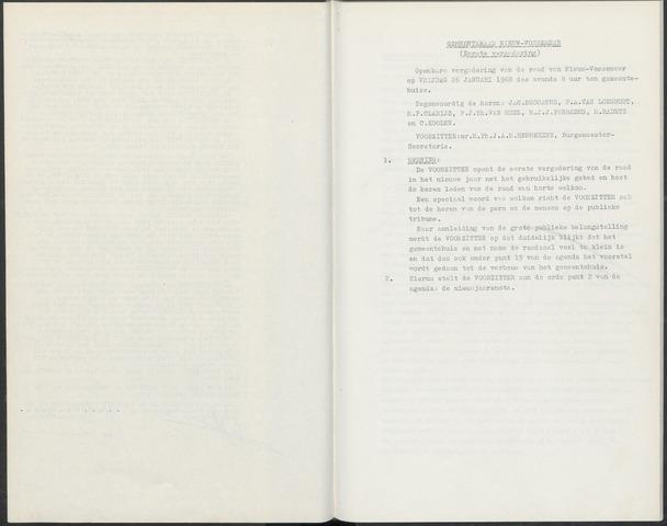 Nieuw-Vossemeer: Notulen gemeenteraad, 1957-1996 1968-01-01