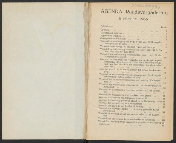 Steenbergen: Notulen gemeenteraad, 1920-1996 1965-01-01