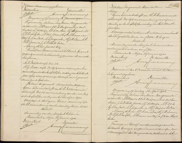 Roosendaal: Notulen gemeenteraad (besloten), 1851-1916 1901