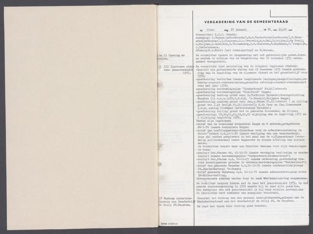 Rucphen: Notulen gemeenteraad, dec. 1949-1998 1976-01-01