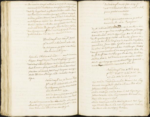 Roosendaal: Registers van resoluties, 1671-1673, 1675, 1677-1795 1719