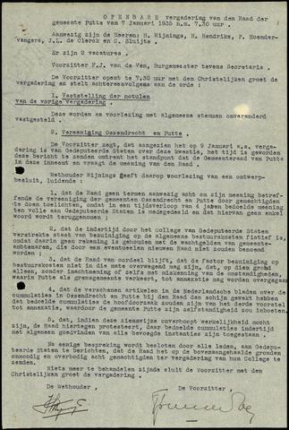 Putte: Notulen gemeenteraad, 1928-1996 1935-01-01