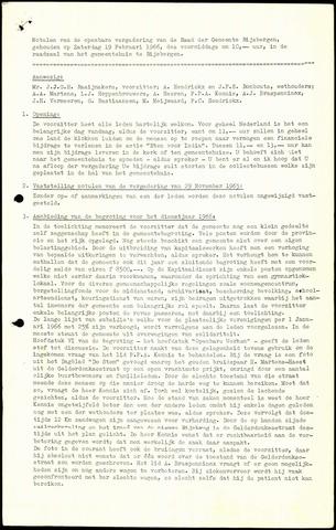 Rijsbergen: Notulen gemeenteraad, 1940-1996 1966