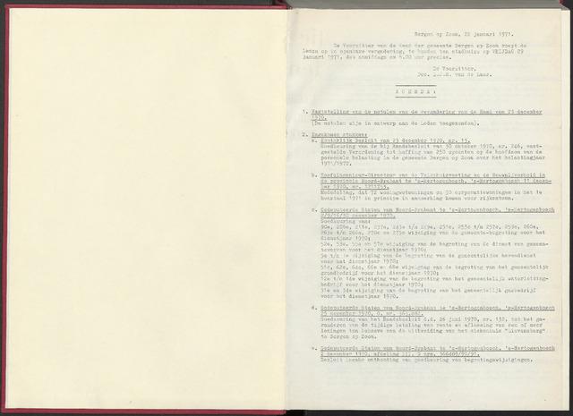 Bergen op Zoom: Notulen gemeenteraad, 1926-1996 1971-01-01