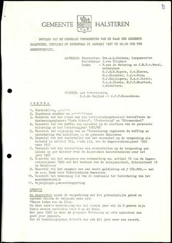 Halsteren: Notulen gemeenteraad, 1960-1996 1967