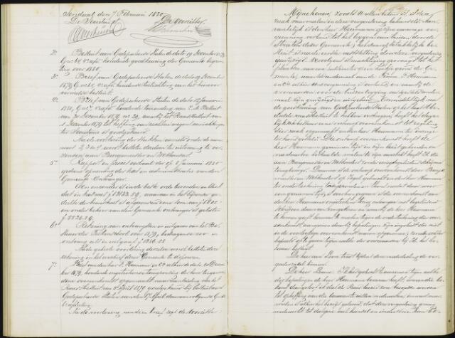 Roosendaal: Notulen gemeenteraad, 1851-1917 1880