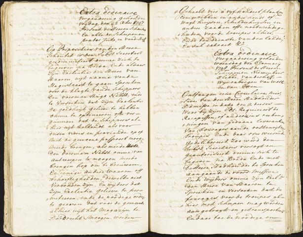 Roosendaal: Registers van resoluties, 1671-1673, 1675, 1677-1795 1748