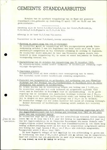 Standdaarbuiten: Notulen gemeenteraad, 1937-1996 1967-01-01