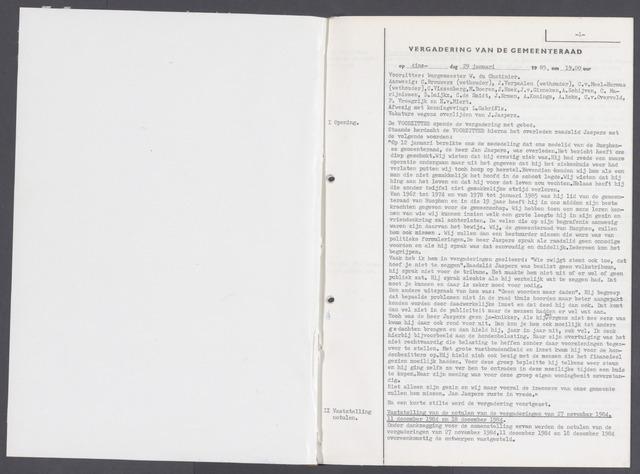 Rucphen: Notulen gemeenteraad, dec. 1949-1998 1985-01-01
