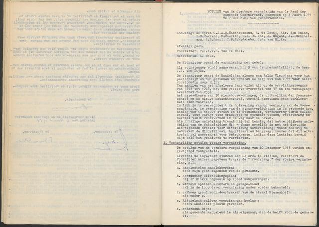Ossendrecht: Notulen gemeenteraad, 1920-1996 1955