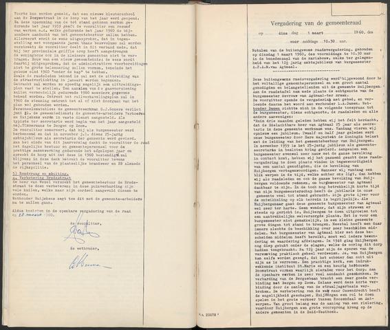 Huijbergen: Notulen gemeenteraad 1935-1996 1960-01-01