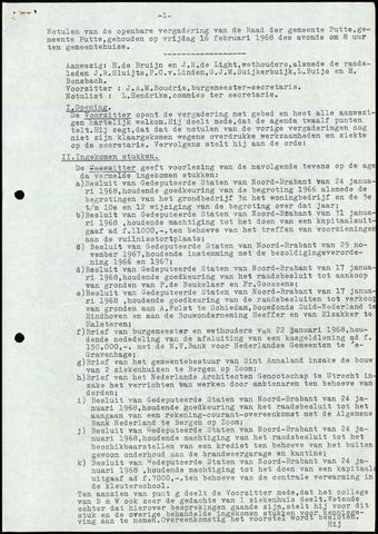 Putte: Notulen gemeenteraad, 1928-1996 1968-01-01