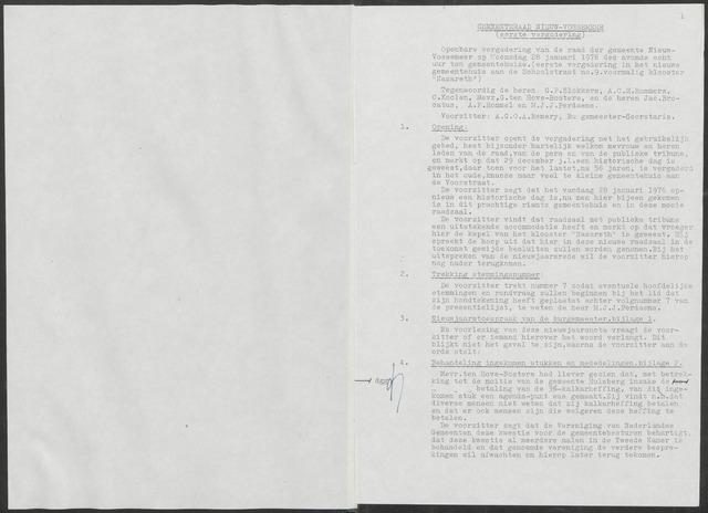 Nieuw-Vossemeer: Notulen gemeenteraad, 1957-1996 1976-01-01
