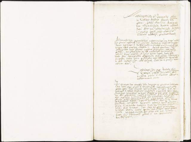 Roosendaal: Registers van resoluties, 1671-1673, 1675, 1677-1795 1673