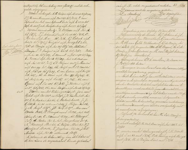 Roosendaal: Notulen gemeenteraad (besloten), 1851-1916 1884