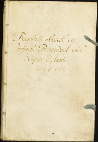 Roosendaal: Registers van resoluties, 1671-1673, 1675, 1677-1795 1685