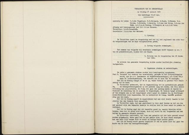 Zevenbergen: Notulen gemeenteraad, 1930-1996 1961-01-01
