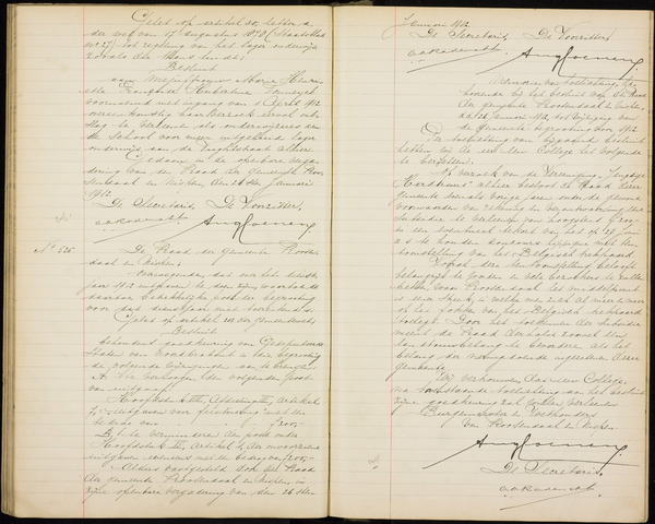 Roosendaal: Besluiten, gemeenteraad 1903-1916 1912