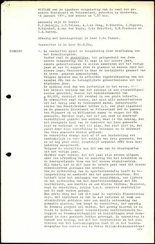 Dinteloord: Notulen gemeenteraad, 1946-1996 1971