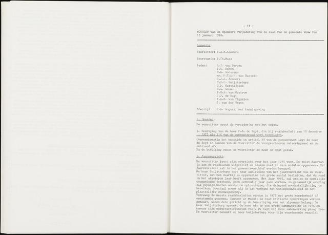 Wouw: Notulen gemeenteraad, 1813-1996 1976