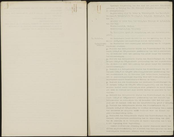 Oudenbosch: Notulen gemeenteraad, 1939-1994 1941-01-01