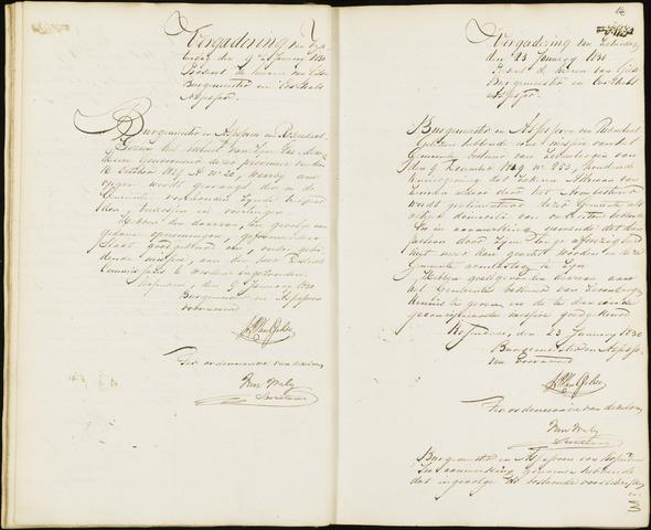 Roosendaal: Notulen van burgemeester en assessoren, 1827-1851 1830