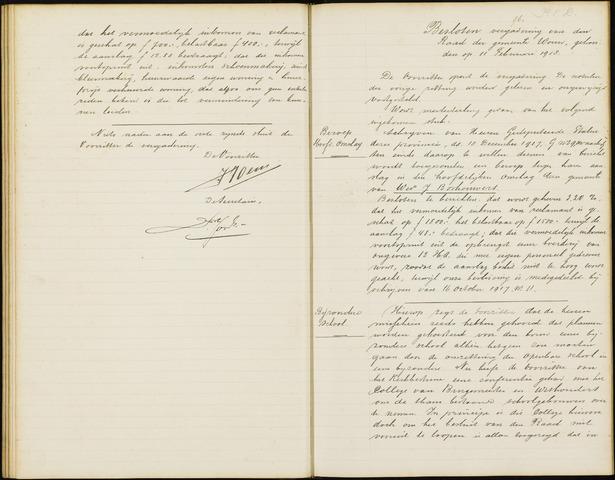 Wouw: Notulen gemeenteraad (besloten), 1902-1919 1918