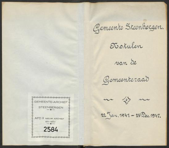 Steenbergen: Notulen gemeenteraad, 1920-1996 1941-01-01